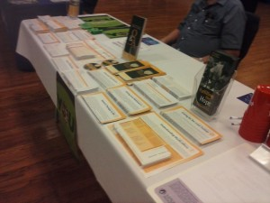 Information from Parkinson Disease Foundation used in our health fairs.